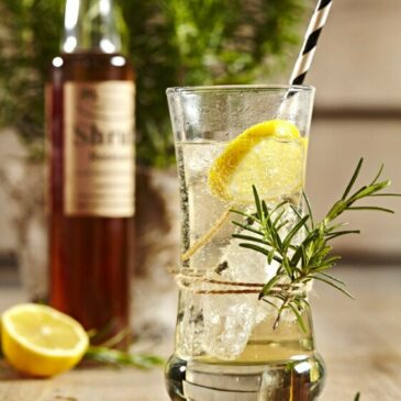 Old Fashioned Sirup-Limo, mit Shrub! Rosmarin