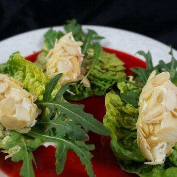 Ziegenfrischkäsenocken mit Shrub! Rote Bete